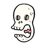 Funny cartoon skull Stock Image