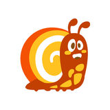 Funny cartoon snail colorful character vector Illustration Stock Photography