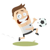 Funny cartoon soccer player Royalty Free Stock Photos