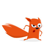 Funny cartoon squirrel is angry Royalty Free Stock Photo