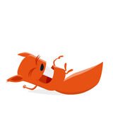 Funny cartoon squirrel. Illustration of a laughing comic squirrel Royalty Free Stock Photos