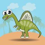Funny cartoon style dinosaur Royalty Free Stock Photography