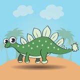 Funny cartoon style dinosaur Stock Image