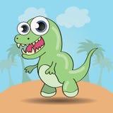 Funny cartoon style dinosaur Royalty Free Stock Photo