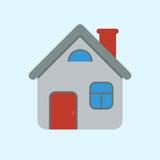 Funny cartoon style house icon. Vector illustration Royalty Free Stock Photos