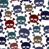 Funny cartoon style skulls seamless pattern. Royalty Free Stock Photos