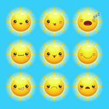 Funny cartoon sun Royalty Free Stock Photo