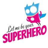 Funny cartoon superhero Stock Photography