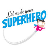 Funny cartoon superhero Royalty Free Stock Image
