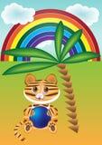 Funny cartoon tiger Royalty Free Stock Photography