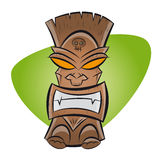 Funny cartoon tiki Stock Image