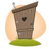 Funny cartoon toilet. Funny cartoon illustration of an old toilet Royalty Free Stock Photo