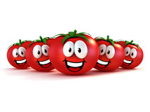 Funny cartoon tomatoes Royalty Free Stock Photo
