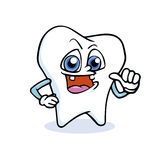 Funny cartoon tooth Stock Photos