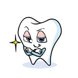 Funny cartoon tooth. A funny cartoon tooth ,vector Stock Images