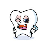 Funny cartoon tooth Royalty Free Stock Photos