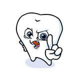Funny cartoon tooth. A funny cartoon tooth ,vector Royalty Free Stock Photography