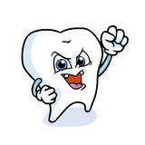 Funny cartoon tooth. Vector illustration Stock Photo
