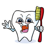 Funny cartoon tooth Royalty Free Stock Photography