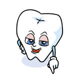Funny cartoon tooth. A funny cartoon tooth ,vector Stock Photography