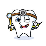 Funny cartoon tooth. Doctor,vector Royalty Free Stock Photo