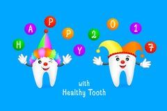 Funny cartoon tooth Stock Photos