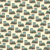 funny cartoon toy train Stock Image