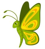 Funny cartoon Tropical Butterfly. Royalty Free Stock Images
