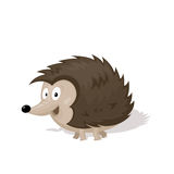 Funny cartoon urchin  illustration.  Royalty Free Stock Photo