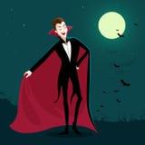 Funny Cartoon Vampire Royalty Free Stock Photo