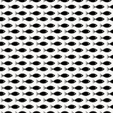 Funny cartoon vector fish seamless pattern over white background. Black and white background. Marine texture. Funny cartoon vector fish seamless pattern over Royalty Free Stock Photography
