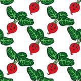 Funny cartoon vegetable orange pumpkin seamless pattern Stock Image