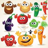 Funny Cartoon Vegetables Clip Art Stock Photo