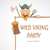 Funny cartoon viking Royalty Free Stock Photos