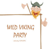 Funny cartoon viking Stock Photo