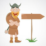 Funny cartoon viking Royalty Free Stock Photography