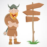 Funny cartoon viking Royalty Free Stock Photo