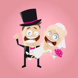 Funny cartoon wedding couple Royalty Free Stock Photography