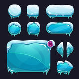 Funny cartoon winter game user interface Royalty Free Stock Images
