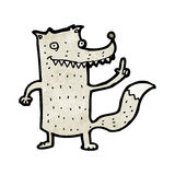 Funny cartoon wolf Royalty Free Stock Images
