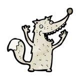 Funny cartoon wolf Stock Photos