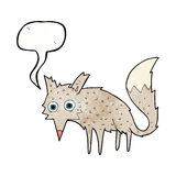 Funny cartoon wolf with speech bubble Royalty Free Stock Image
