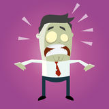 Funny cartoon zombie Royalty Free Stock Image