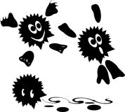 Funny cartoons. Three Funny abstract vector character Royalty Free Stock Image
