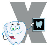Funny cartoons alphabet-X Royalty Free Stock Images