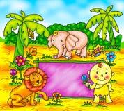 Funny cartoons. A digitally illustrated funny cartoons vector illustration