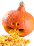 Funny carved pumpkin Stock Images
