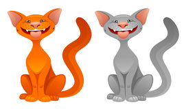 Funny cat. On a white background vector illustration