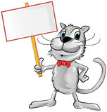 Funny cat cartoon Stock Images