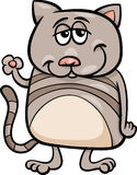 Funny cat character cartoon illustration Stock Photography